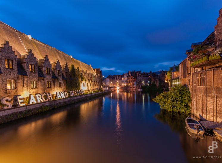 Gent, Ghent, Ghand, Belgium, België, Belqique, Graslei, Leie, Water, Cityscape, Stad, Unesco, Nacht, Blue Hour, Night, Avond, City, Cityscape, Long Exposure